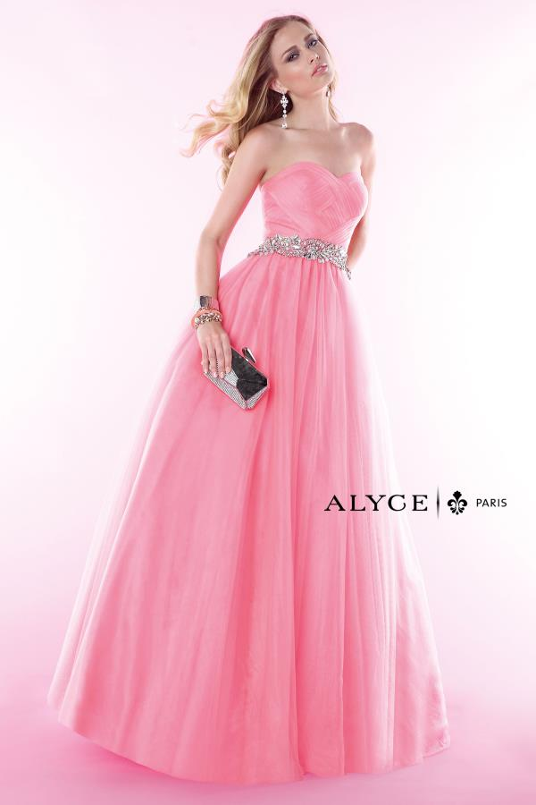 Strapless Navy Tulle Alyce Paris Dress 6388