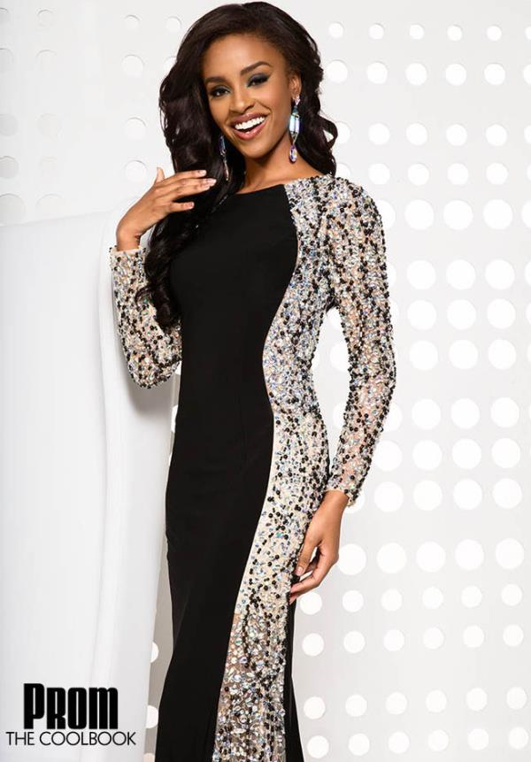Jovani Fitted Sleeved Dress CB21516