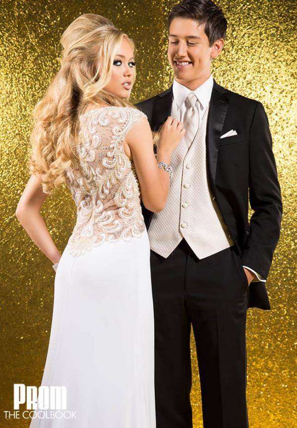 Tony Bowls Evenings Long Beaded Back Prom Dress CB1513