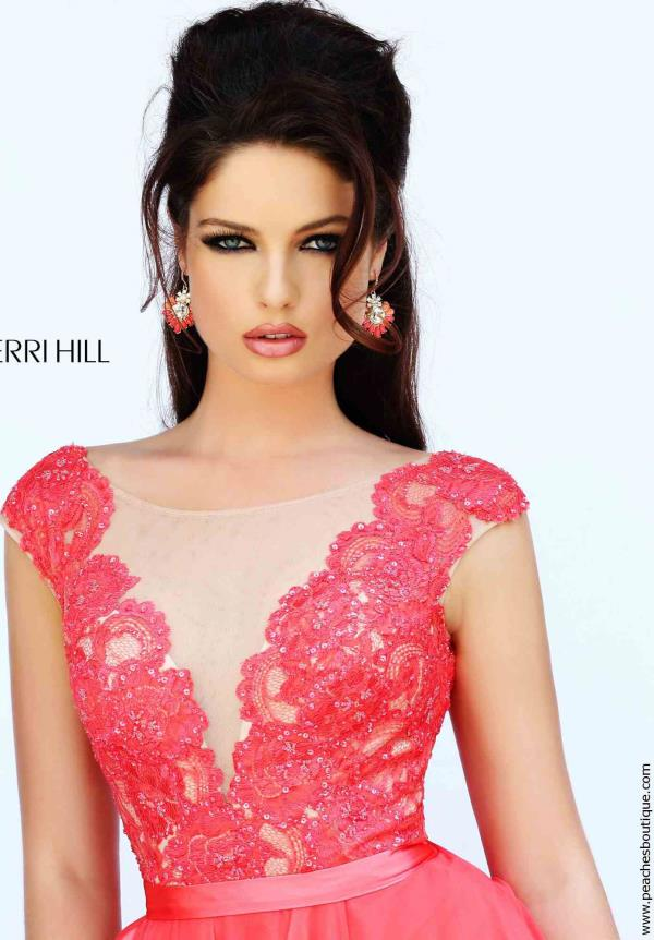 Sleeved A-Line Sherri Hill Prom Dress 11269