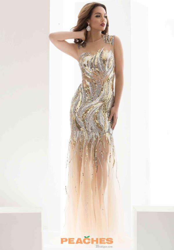 Jasz Couture Gold Sequins Dress 5602