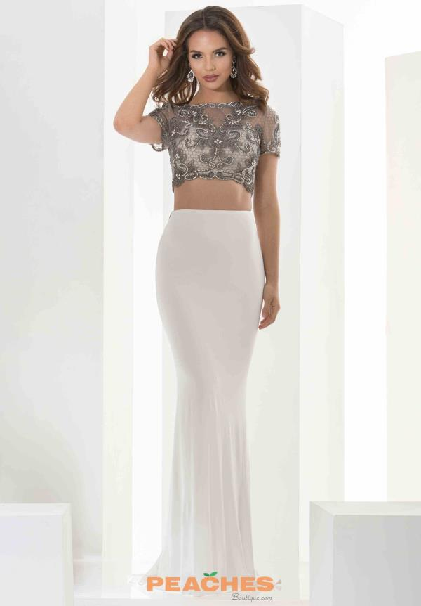 Jasz Couture Two Piece Beaded Dress 5603