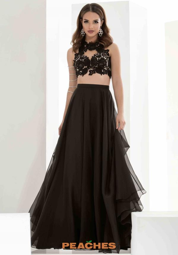 Jasz Couture Two Piece Chiffon Dress 5607