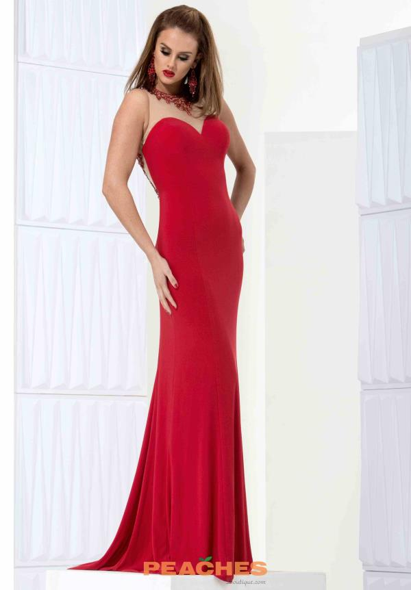 Jasz Couture Red Fitted Dress 5639