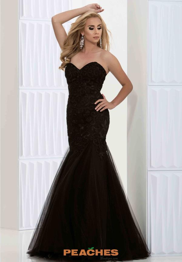 Jasz Couture Sweetheart Neckline Black Dress 5654