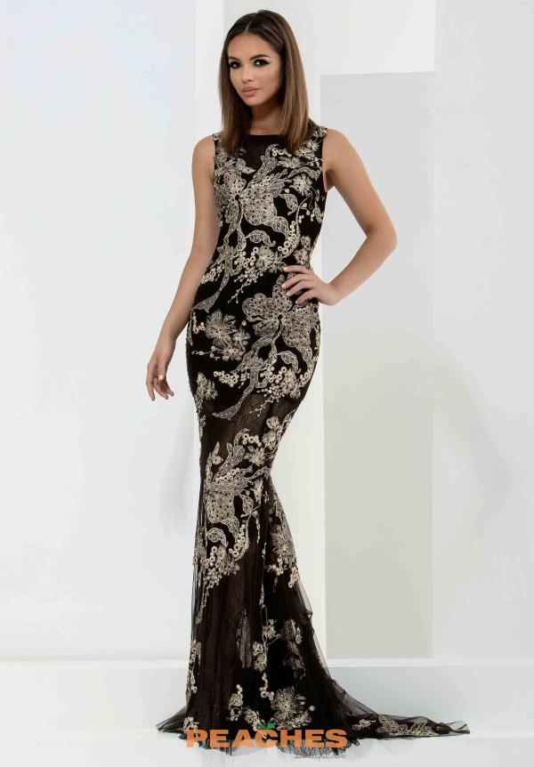 Jasz Couture Black Fitted Dress 5666