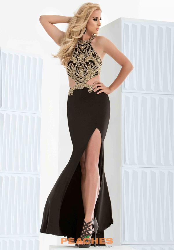 Black Fitted Jasz Couture Dress 5692