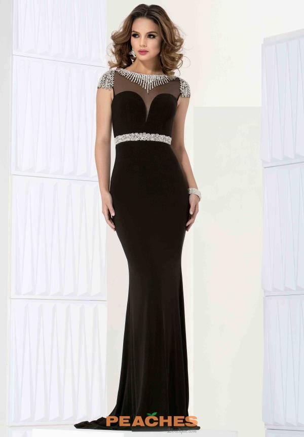Beautiful Fitted Brown Jasz Couture Dress 5706