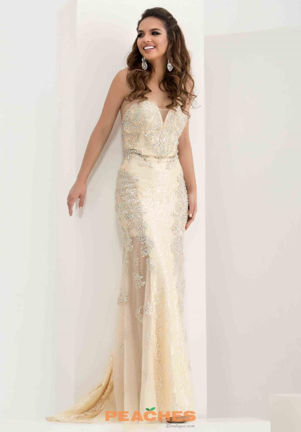 Strapless Beaded Jasz Couture Dress 5717