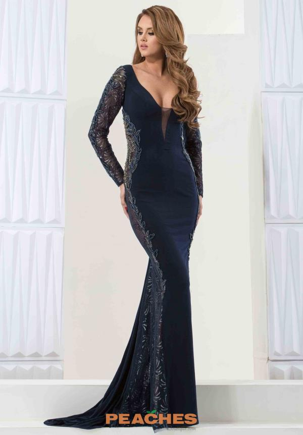 Jasz Couture Long Sleeved Dress 5747