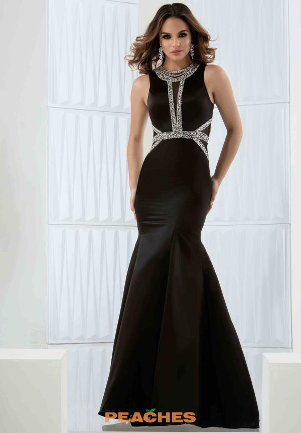 Jasz Couture Black Mermaid Dress 5755