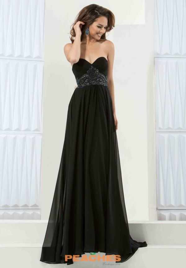 Jasz Couture Long Chiffon Dress 5783