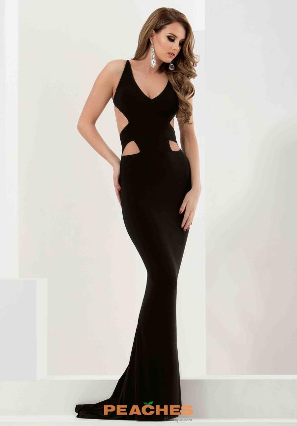 Jasz Couture Jersey Fitted Dress 5802