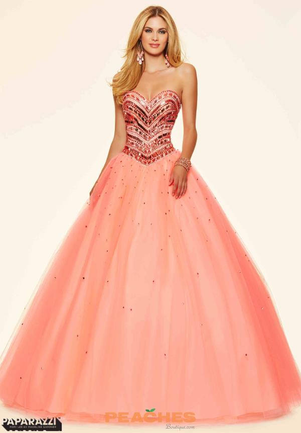 Mori Lee Beaded Ball Gown Prom Dress 98003