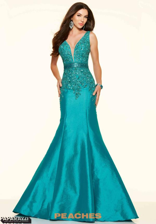 Mori Lee Fit and Flare Lace Dress 98029