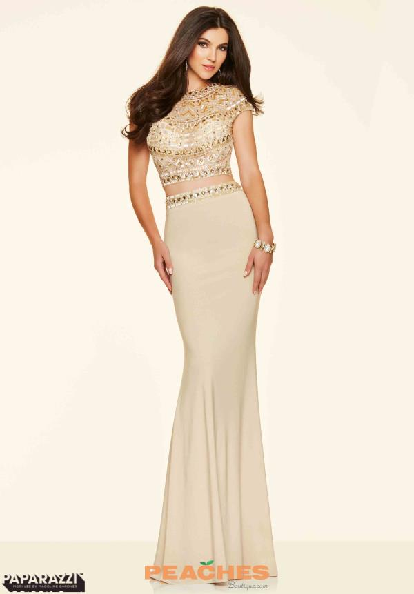 Mori Lee Two Piece Jersey Dress 98034