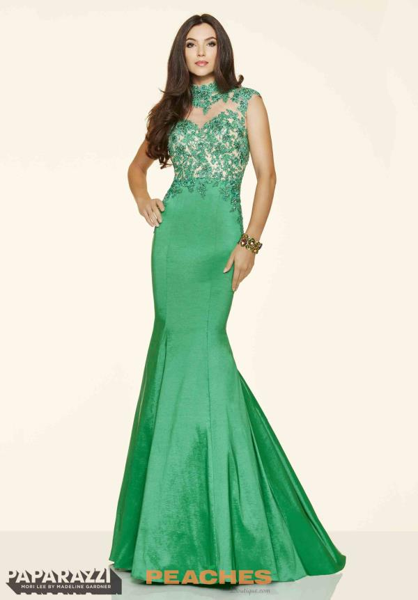 Mori Lee Taffeta Mermaid Dress 98049
