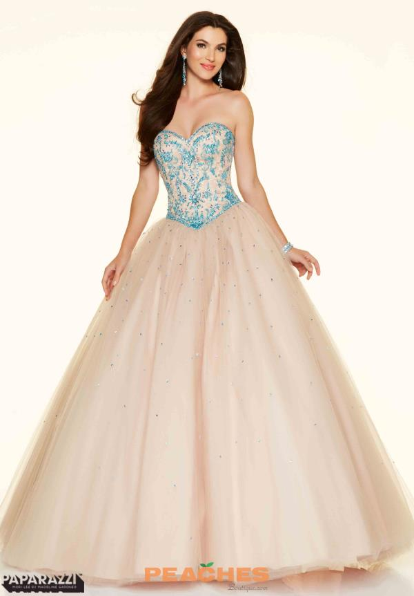 Mori Lee Lace Back Ball Gown  98059