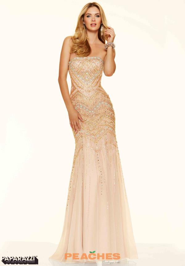 Mori Lee Long Beaded Dress 98084
