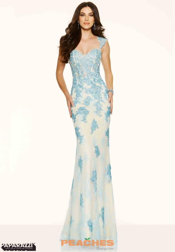 Mori Lee  Applique Fitted Dress 98085