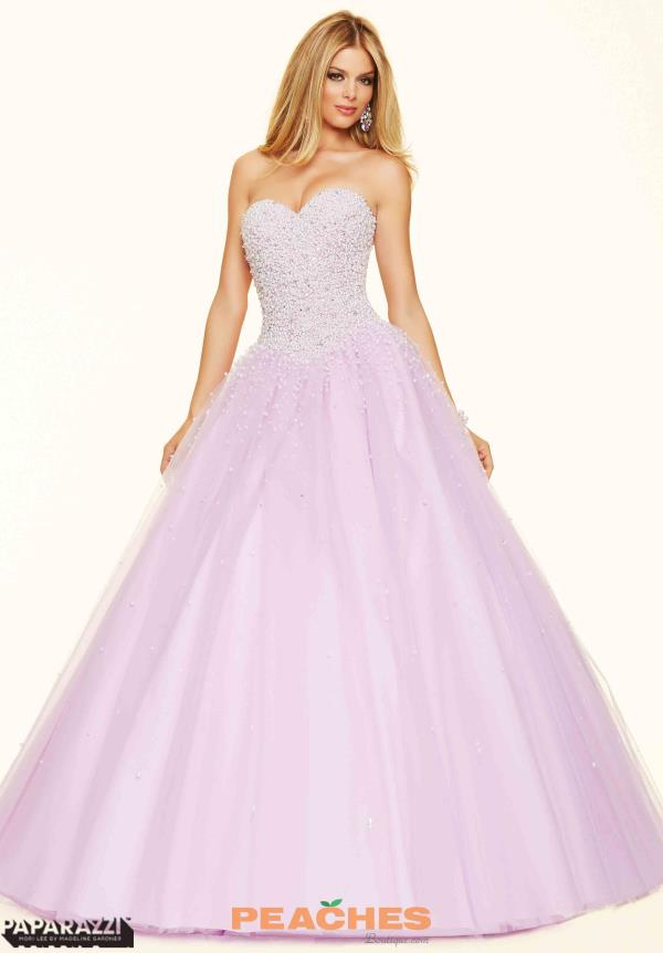 Mori Lee Beaded Ball Prom Gown 98093