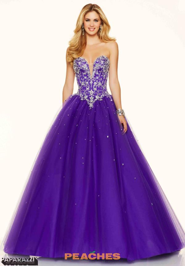 Mori Lee Beaded Ball Gown Prom Dress 98114