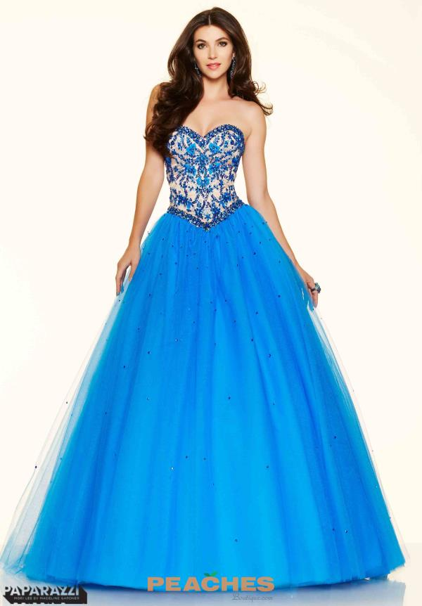 Mori Lee Coral Ball Gown 98117