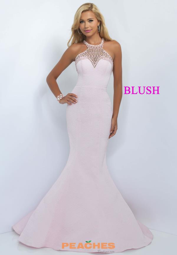 Blush Long Fit and Flare Dress 11026