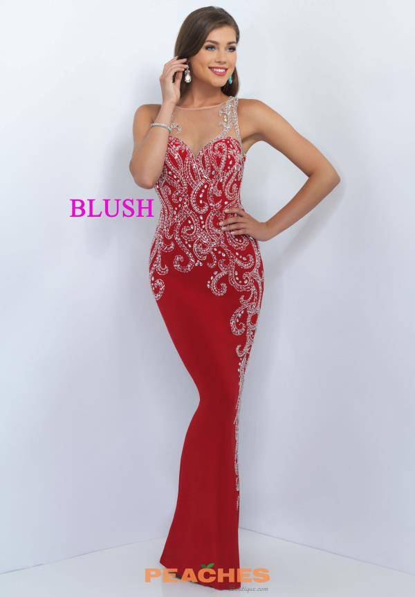 Blush Long Fitted Dress 11040