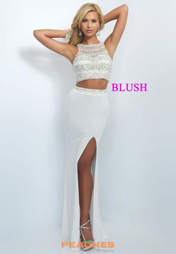 Blush Jersey Fitted Dress 11065