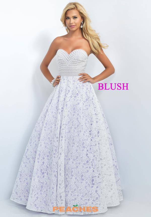 Beaded Sweetheart Neckline Blush Dress 5520