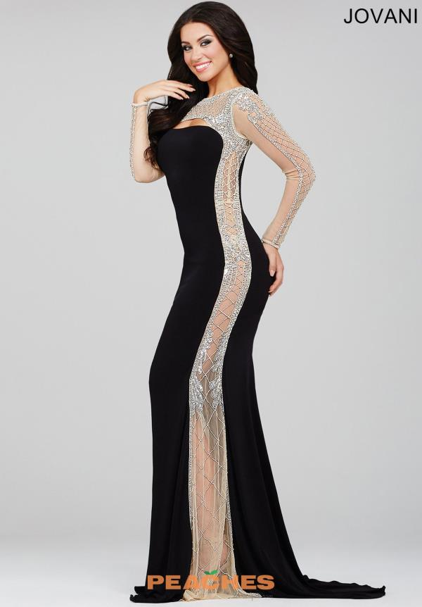 Jovani Long Sleeved Fitted Dress 22954