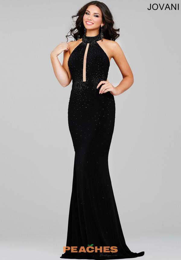 Jovani Halter Top Social Occasion Dress 26919