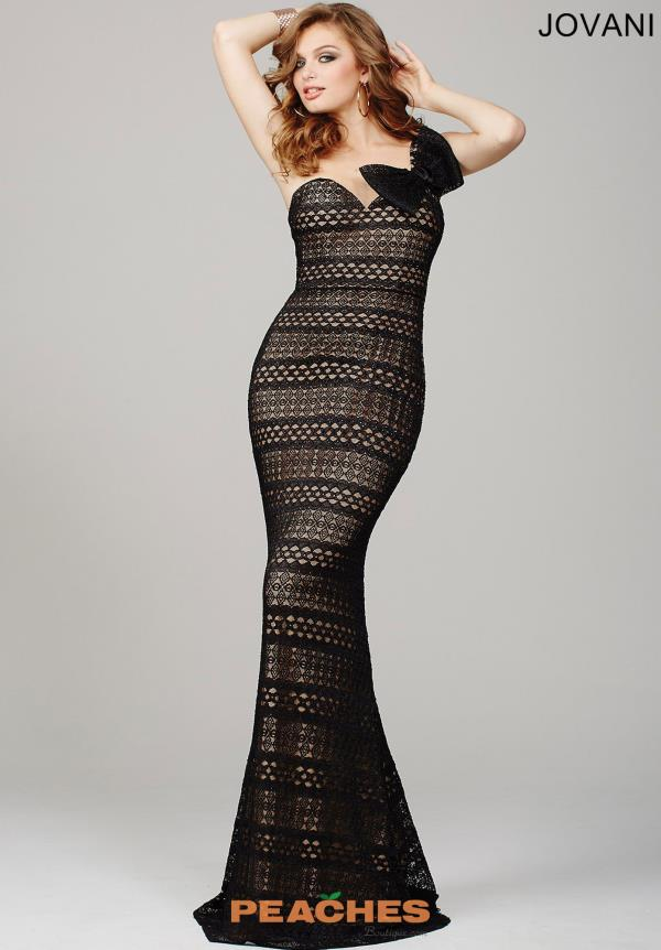 One Strap Fitted Jovani Dress 35298