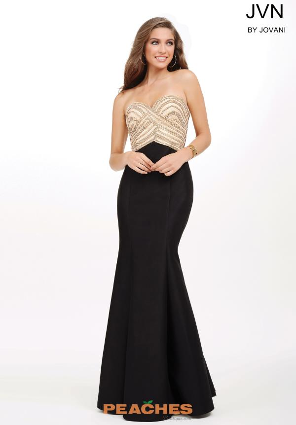 Strapless Beaded JVN by Jovani Dress JVN33933