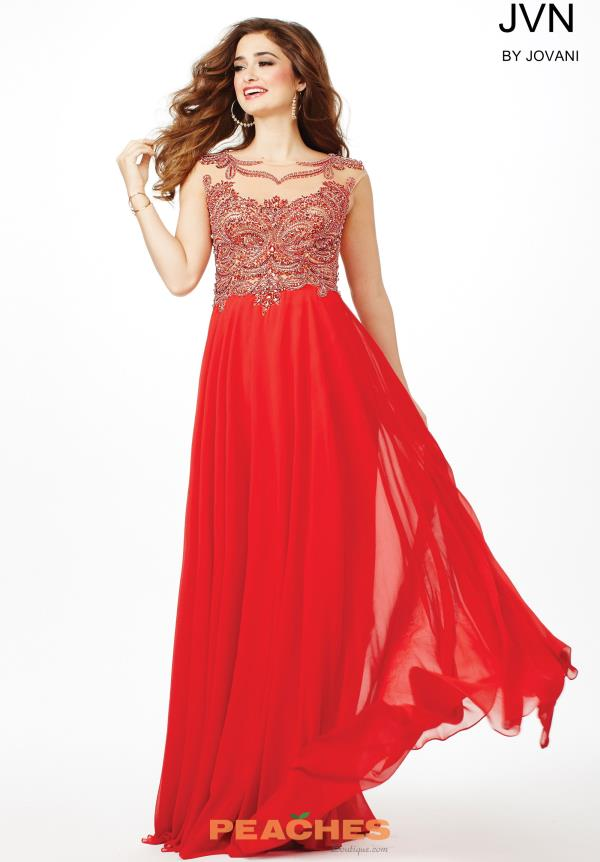 JVN by Jovani Long Chiffon Dress JVN36770
