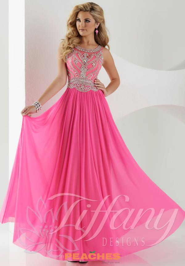Tiffany High Neckline Prom Dress 16152