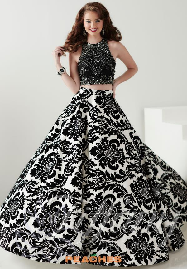 Tiffany Print A Line Prom Dress 16188