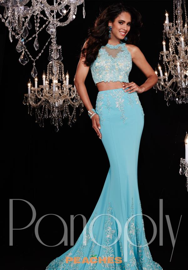 Panoply Jersey Aqua Fitted Dress 14770