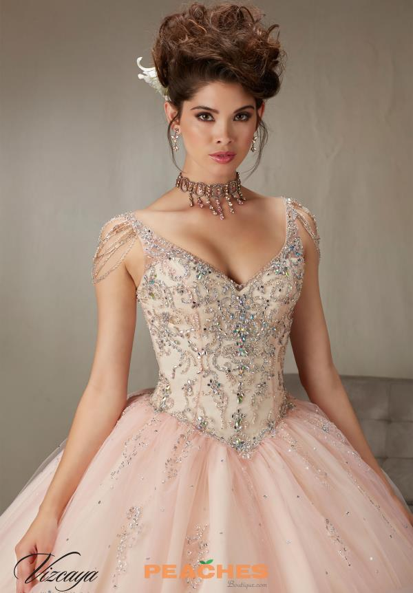 Vizcaya Quinceanera Beaded Gown 89065