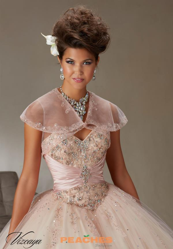 Vizcaya Quinceanera Lace Back Ball Gown 89069