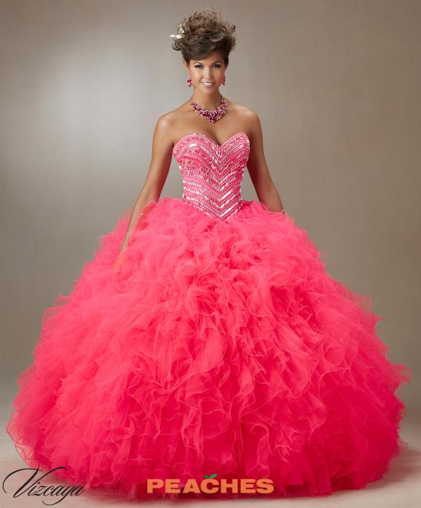 Vizcaya Quinceanera Ruffle Skirt Dress 89072