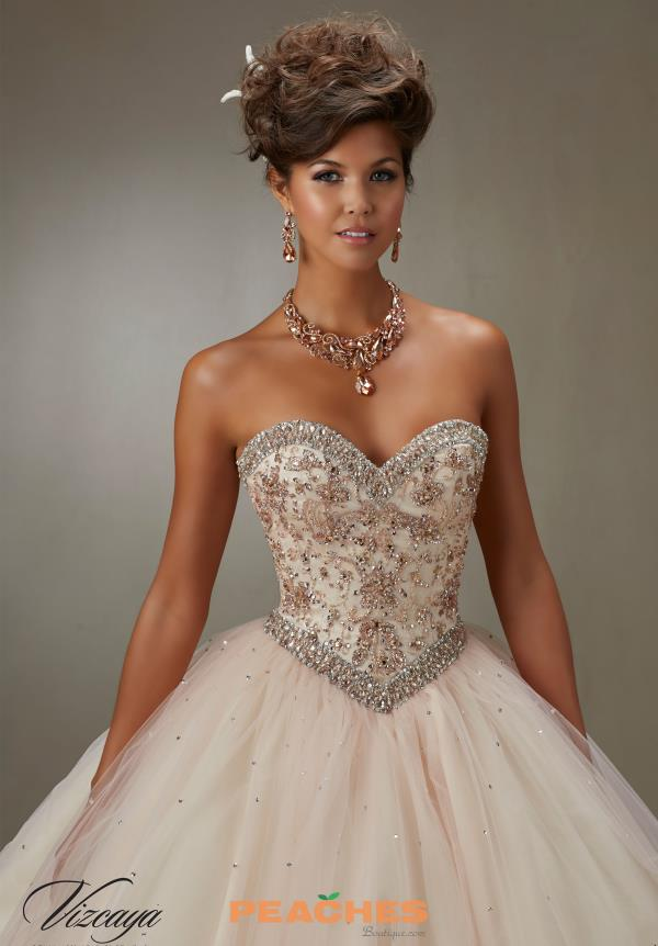 Vizcaya Quinceanera Long Tulle Skirt Gown 89073