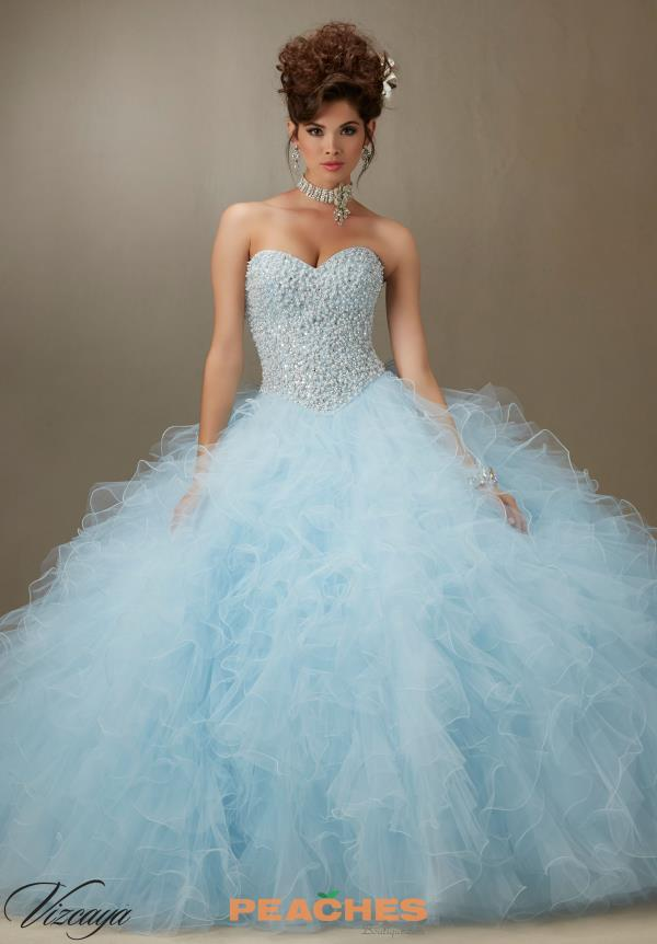 Vizcaya Quinceanera Ruffle Skirt Gown 89077