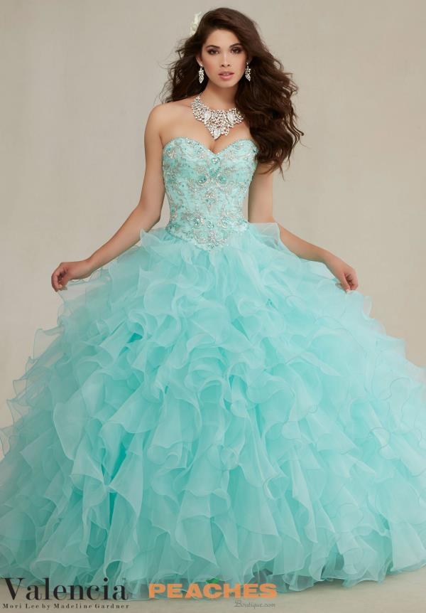 Vizcaya Quinceanera Long Ruffled Skirt Gown 89082