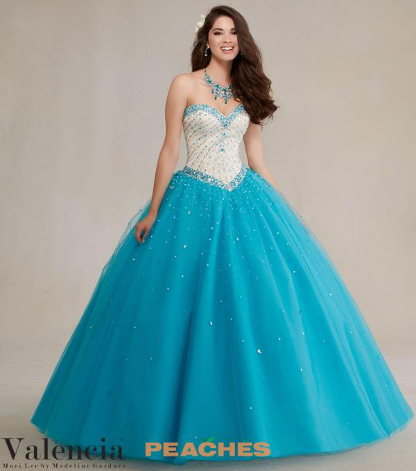 Vizcaya Quinceanera Beaded Gown 89083