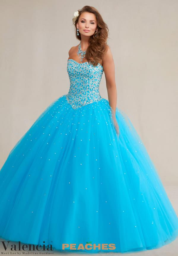 Strapless Beaded Vizcaya Quinceanera Gown 89085