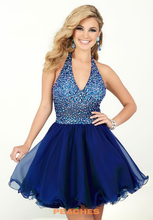Hannah S Navy Halter Top Beaded Dress 27074