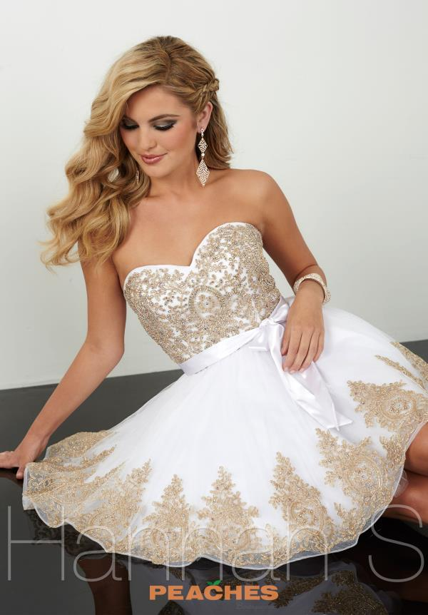 Hannah S Short Applique Graduation Dress 27079