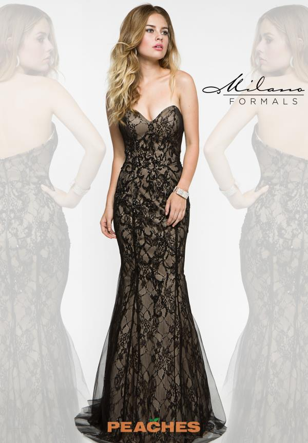 Black Fitted Milano Formals Dress E1904